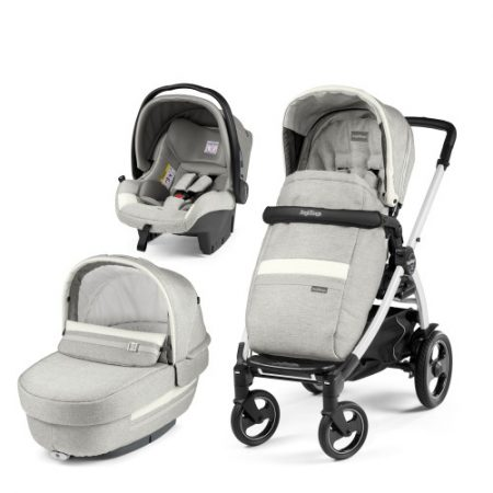 Carucior 3 in 1 Peg Perego Book Plus 51 S Titania White Luxe Pure