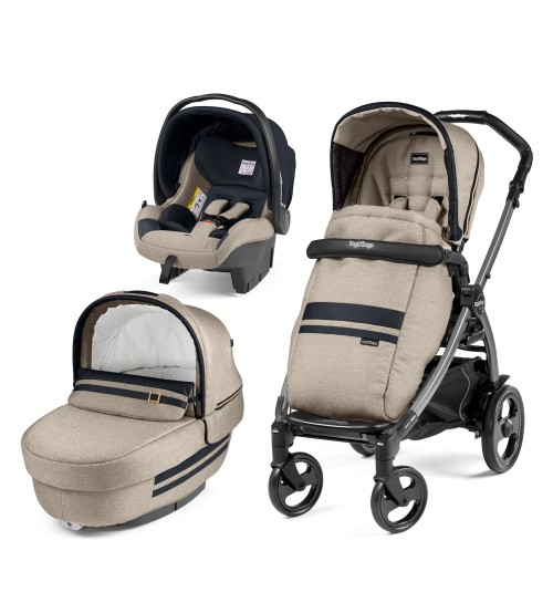 Carucior 3 in 1 Peg Perego Book Plus 51 Titania Luxe Ecru