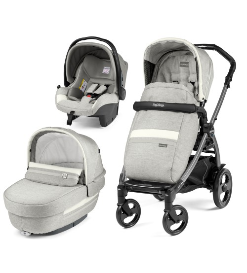 Carucior 3 in 1 Peg Perego Book Plus 51 Titania Luxe Pure